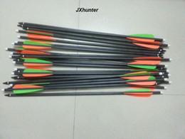 12PK стрельба из лука охота 18 дюймов арбалет смешанный углерод стрелка болт с 4