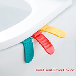Wholesale Plastic Seat Covers - Foldable Toilet Seat Cover Device Fashion creative design Easy to use, Rich colors, Dress your home.