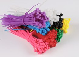 Wholesale Cable Tie Packaging - Plastic self-locking nylon cable ties 3 * 100mm color plastic seals multicolored nylon cable tie   100 package
