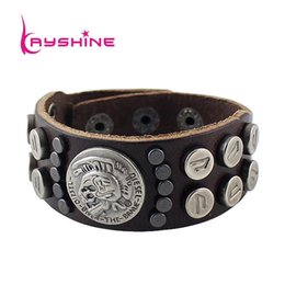 Wholesale Leather Steampunk Bracelets - Fashion Steampunk Jewelry Gothic Style PU Leather Bangles and Bracelet Jewelry For Women