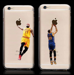 Wholesale Basketball Iphone 5c Case - For iPhone 6 6s plus NBAA Kobe Bryant Stephen Curry Basketball Stars Soft TPU Cover Case for iPhone 5 5s SE 5C