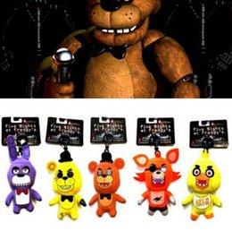 Wholesale Top Toy Figures - Five Nights At Freddy's Plush toys Keychains FNAF Pendants 5cm five nights at freddy's Stuffed Toys Top quality Free ship D272