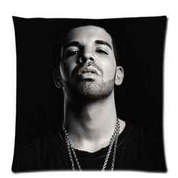 Wholesale Music Pillow Cases - Free Shipping My Favourite Music Drake Singer Square Cotton 18x18 Inch Two Side Printed Pillow Case