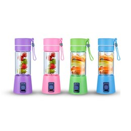 Wholesale Crescent Electric - Electric Handheld Juicer Bottle PP USB Charging Fruit Mixer Milkshake Smoothie Maker Rechargeable Juice Blender Portable