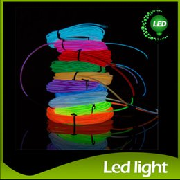 Wholesale wholesale el wire - 8 Colors 3M Neon Flexible Light EL Wire Rope Tube with Controller Halloween Christmas Decoraion