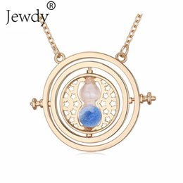 Wholesale Hourglass Antiques - Wholesale- Potter Colorful Hourglass Rotating Wish Necklace Unisex Jewelry Time Turner Popular Antique Pendant Necklace Gift