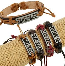 Wholesale Rope Cross Bracelet Adjustable - leather bracelets bangles wristband wolf design elephant jewelry men's turtle design charm Adjustable real cow cuff