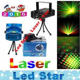 Wholesale Party Laser Stage Light - Mini Voice Automatic Play Laser Lights Lighting Projector Disco DJ Stage Xmas Party Show Club Star Bar + Tripod + EU AU US UK Plug