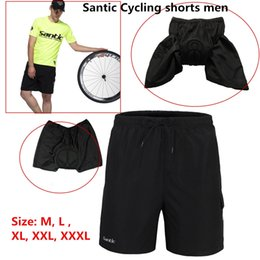 Wholesale Baggy Bike Shorts - Wholesale-Santic Road Men's Cycling Loose Shorts Mountain Bike Bicycle Leisure Baggy 3D Padded Thickening Sports Cycle Wear Plus Sizes