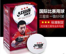 Wholesale Dhs Ball Star - Wholesale- 18 PC DHS 3 star new material 40mm+ Table Tennis Balls Pingpong balls 82001
