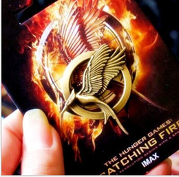 Wholesale Pins Movie - The Movie Hunger Games 2 MOCKINGJAY PINS Brooches Bronze Lauging Bird with retail Card