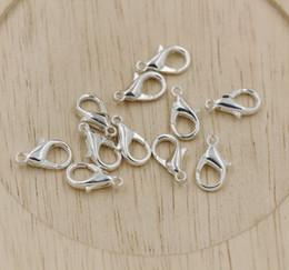 ganci di bottoni antichi Sconti Caldo ! 10mm 12mm 14mm 16mm 18mm placcato argento lega aragosta catenacci gioielli fai da te