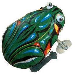 Tipi di rana online-[Nuovo arrivo] [Vendita calda] Metal frog Wind-up frog Lovely classico tipo rana giocattolo Bambino regalo giocattolo