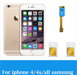 Wholesale S3 Android Dual Sim - Wholesale-Dual 2 Sim Card Adapter Slot For Android For iPhone 4 4s 5 5s 5c X501 for samsung S3 S4 S5 Note 3 X0501