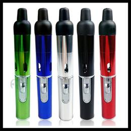 Wholesale Jet Flame Burner - 2015 Newest Click N Vape Sneak a Vape Incense Burner Pen Style for Dry Herb Wax Vaporizer Smoking Epipe Jet Torch Flame Lighter Wind Proof