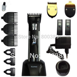 2017 cortadoras de pelo 1set Titanium Blade Profesional Clipper Herramientas Eléctricas Precision Cordless Hair Trimmer Pelo Clipper para Bebé Niños Pets Home Haircut rebajas cortadoras de pelo