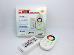 Wholesale Rgb Touch Remote - RGB led controller DC12-24A 18A RGB led controller 2.4G touch screen RF remote control for led strip bulb downlight