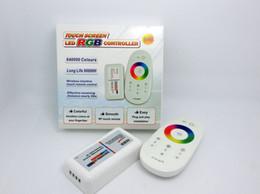 RGB светодиодный контроллер DC12-24A 18A RGB светодиодный контроллер 2.4G с сенсорным экраном RF пульт дистанционного управления для светодиодной полосы лампы downlight cheap touch screen remotes от Поставщики сенсорные экраны