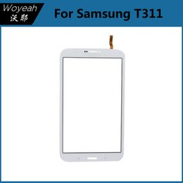 Wholesale Touch Screen Phone Replacement Glass - For Samsung Tab 3 8.0 T311 Touch Screen Digitizer Glass Black And White Mobile Phone Touch Panels Replacement Parts