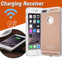 Wholesale Wholesale Iphone Charging Cases - Qi Standard Wireless Charger Receiver Case Universal Adapter Ultra Slim 5V 1A Charging For iPhone 7 7 Plus 6 6S SE 5S 5 With Retail Package