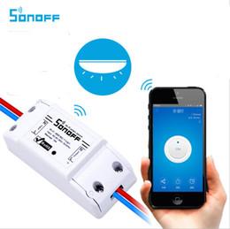 2019 interruptor de luz doble control remoto Sonoff Dual 2CH Wifi Interruptor Inteligente Control Remoto de Casa Control Inalámbrico Interruptor Universal Módulo Temporizador Wi-fi Todo Controlador OTH720