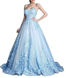 Wholesale perfect power - Perfect Sweetheart Floral Evening Dresses Gowns Flower Saudi Arabia A-Line Appliques Lace Bodice 2018 Long Party Prom Dresses Robe De Soiree