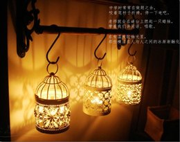 Wholesale Wholesale Metal Lanterns - 2015 New Arrival Romantic Wedding Favors Iron Lantern Candle Holder for Wedding Centerpieces Table Decorations Supplies Free Shipping