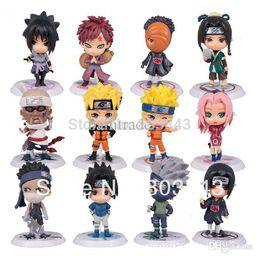 Wholesale Naruto Sasuke Figures - Wholesale-New Design 12pcs PVC Anime Naruto Action Figure Shikamaru, Kakashi, Sasuke Model Toy for collection