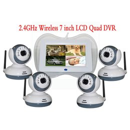 Wholesale 32 Computer - 7 inches of wireless digital surveillance video baby monitor 4 image segmentation and biggest support 32 gb card to connect the computer rem