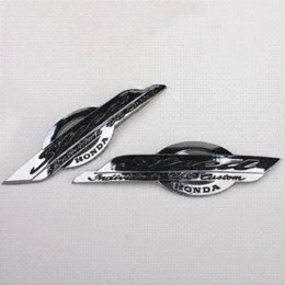Motorrad-tank embleme online-Motorrad Benzin Tank Emblem Abzeichen Decals Chrome für Steed VLX 400 600 Chrom Trim für Autos