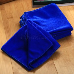 Wholesale Auto Hand Cleaner - Wholesale- New Yetaha 6Pcs 30x30cm Auto Care Microfibre Cleaning Towel Car Wash Cloth Blue Hand Towel Soft Cloth Car Detailing Car-Styling