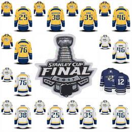 Wholesale Final Gold - 2017 Stanley Cup Final Patch Nashville Predators 76 P.K Subban 6 Shea Weber 9 Filip Forsberg Mike Fisher Pekka Rinne Hockey Jerseys