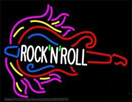 2019 tubes néon roses HOT Pink Rock Roll Guitare Block Neon Sign Music Bar Disco KTV CLUB Magasin Publicité Ampoule AFFICHAGE VRAI VERRE TUBE DE VERRE NEON 24
