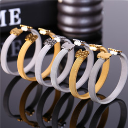 Wholesale Steel Bear - Stainless Steel Bear Bangle Bracelet Silver Plated 316L Hot Selling Classic Style Never Fade Gift Pulsera oso