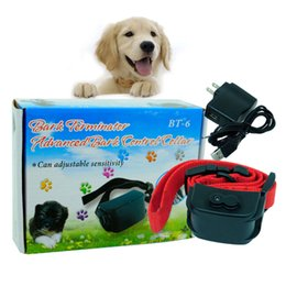 Wholesale Dog Traning - New Hot Pet Supplies Chargeable Shock Sound vibration Auto Bark Control Traning Collar for Dog T0799