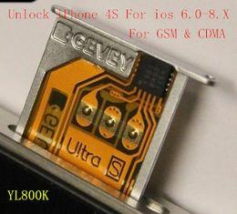 Wholesale Gpp Sim For 4s - Wholesale F981Chip GEVEY Ultra S Unlock Sim Card for iPhone 4S GSM iOS9 ios8 ios7 iOS6 GPP