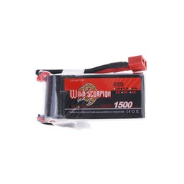 Wholesale Rc Metal Airplane - Wild Scorpion 1500mAh 25C MAX 35C 3S T Plug Lipo Battery 11.1V for RC Car Airplane Helicopter Part order<$18no track