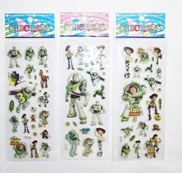 Wholesale Buzz Toy Story - Toy Story stickers for kids Woody buzz puffy kids rewards school stickers anime stickers