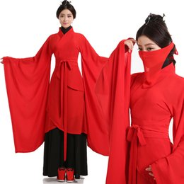 Wholesale red hanfu - Women's clothing tang china national costumes traditional chinese hanfu dress folk dance ancient women clothes dynasty hanfu cosplay robes