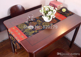 Wholesale Table Runners Unique Cloth - New Unique Cotton Boutique Christmas Table Runners Long Coffee Table Cloths Chinese style Bed Runner L200 x W30cm 1pcs Free
