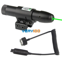 Wholesale Green Dot Laser Pistol - 532nm Green Dot Laser Sight for Gun Pistol Scope Weaver 2 mounts + Remote Switch Free Shipping order<$18no track