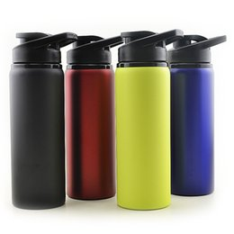 Wholesale Metal Bottle For Water - 700ml Stainless Steel Cups Large Capacity Sports Water Bottle for Outdoors Camping Travel Cycling Drop Resistance Cups