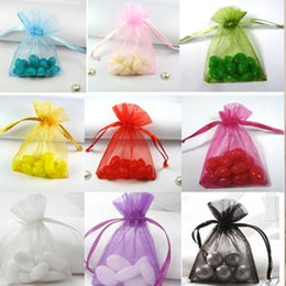 "Wholesale Wedding Candy Bag Favors - Wholesale-Organza Drawstring Gift Bags 10cmx15cm (4""x6"") Necklace Bangle Bracelet Jewelry Pouches Fashion Wedding Candy Favors"