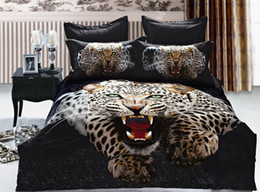 Wholesale Leopard Bedding Sale - NEW!!Leopard bed set FOR SALE Real 3D oil cover set 4pcs with free shipping