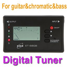 Wholesale Digital Led Electronic Guitar Tuner - NEW LED Digital Guitar Tuner Electronic Acoustic Bass Tuner with Mic Musical Instruments Guitar Accessories