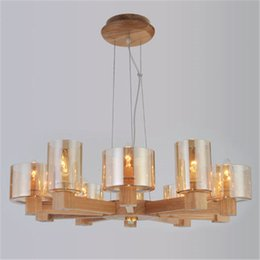 Wholesale italian pendant lighting - Art Solid Wood Pendant Lamps Decorative European Italian Vintage Pendant Lamps Living Room Personality Restaurant Pendant Lights