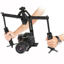 Caméscopes dslr en Ligne-CHAUD vente Black Handheld Spider Stabilizer Vidéo Steadicam Steady Rig pour caméscope DSLR