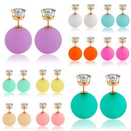 Wholesale Design Earings - Earings for Woman Girl Brand Design Charm Trendy Crystal Stud Earring Geometry Statement Jewelry Vintage Double Pearl Earrings Stud Earrings