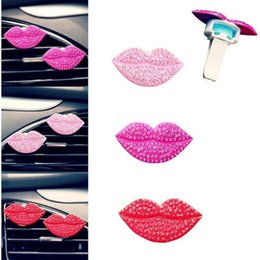 Wholesale Sold Perfume - Christmas Fashion Loving Sexy Lips Car Air Outlet Fragrant Perfume Clip Freshener Diffuser Gift hot selling