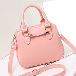 Wholesale Candy Bag Female - Wholesale-Candy color style women shoulder bag female crossbody Bags Genuine patent leather pendant tote women Clutches CC messenger bag